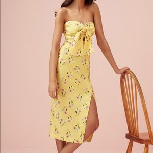 NEW • Finders Keepers • Limoncello Strapless Dress